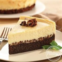 Brownie Chocolate Chip Cheesecake from Pillsbury® Baking