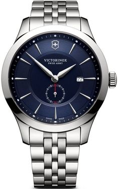 @vxswissarmy Watch Alliance #add-content #basel-17 #bezel-fixed #bracelet-strap-steel #brand-victorinox-swiss-army #case-material-steel #case-width-44mm #classic #date-yes #delivery-timescale-call-us #dial-colour-blue #gender-mens #movement-quartz-battery