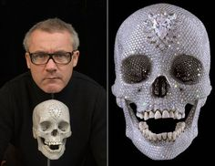 Skull by Damien Hirst Damien Hirst, Dan Brown, Hirst Arts, Diamond Skull, Trash Art, Galleries In London, Skull And Bones, Memento Mori, Make Art