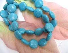 Turquoise Coin Beads 12mm