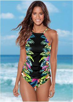 2019 Sexy Bikini Swimwear Women Swimsuit Push Up High Neck Bathing Suit Biquini Two Piece Tankini Plus Size Swimwear Beachwear Venus Swimwear, Bikini Swimwear, Bikinis, Swimsuit Tops, Plus Size Bikini Bottoms, Women's Plus Size Swimwear, Denim And Lace, Sexy Bikini, Womens Tankini