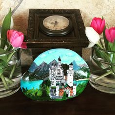 Hand painted stone