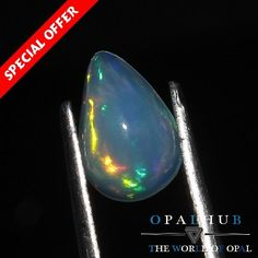 0.82 Cts 100% Natural Ethiopian Welo Fire Opal Cabochon Stone Play Color 4608