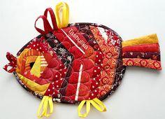 лоскутная мозаика: Прихватки на кухню своими руками из лоскутков.