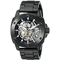 837a8d4ada8 Fossil Men s ME3080 Modern Machine Automatic Stainless Steel Watch - Black  Fossil Watches For Men