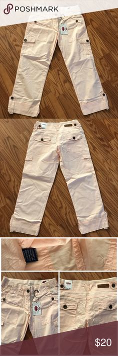 Cargo Capri pants New with tag. It's a cargó Capri pants. I have 2 size available. It's size 5/6 and size 9/10. No trades or Ppthanks What About Me Pants Capris