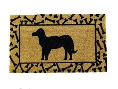 """Printed Coco Coir Doormat Dog Design by William F. Kempf Cocomats. $17.95. Biodegradable; Long Lasting; Heavy Duty; Traps Dirt and Moisture. 100% All-Natural Coco Fiber. Dog Design. Vinyl (Rubber) Backing. Deeply dyed for a long lasting crisp image. 18"""" X 30"""" X 0.5"""" Coirmat with a Dog Design.   Our cocomats are made only with the best coconut fibers imported from India. Ink for the design is imprinted deep within the coco fibers of the mat to ensure a long lasting and shar..."""