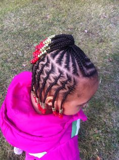 LITTLE GIRL HAIRSTYLES / BRAIDS / HAIRSTYLE / HAIRSTYLES / KIDS / BOW / CORNROLLS / HAIRDO / UPDO / GIRL