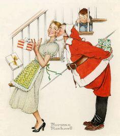 1950s Rockwell Christmas   FELICITANDO LA NAVIDAD CON NORMAN ROCKWELL