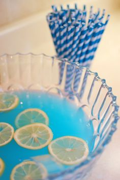 Blue punch to keep with the yellow and blue theme! - yummy & refreshing