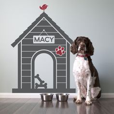 Dog House Wall Decal Puppy Dog Nursery Theme Size Large