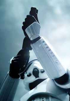 """""""TK-421 why are you not at your post?""""  """"I'm off being epic Sir""""  """"Carry on Trooper"""""""