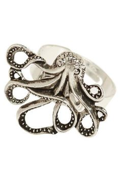 My Pet Octopus Ring, #ModCloth- for teaching word root of octave (octopus, etc)
