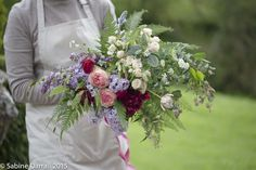A beautiful free form bouquet created by Petals fine flowers on 3 weddings in 3 days