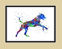 Rhodesian Ridgeback   animal paintinganimal art dog by RosalisArt