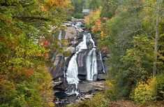 Pickens and Pickens County are laden with show stopping waterfalls and there's a company in Pickens that offers thrilling horseback trail rides that dish up some amazing waterfall and mountain views. More info on that here. North Carolina Hiking, North Carolina Waterfalls, South Carolina, Nc Waterfalls, Dupont State Forest, Pickens County, Pack Up And Go, High Falls, Mountain Living