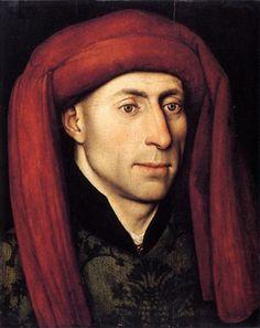 A Man, ca. 1440 (Jacques Daret) (ca. 1404-1470)  Staatliche Museen zu Berlin, Gemäldegalerie