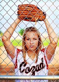 senior girl softball picture ideas - Google Search