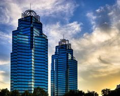 Sold a fine art print of King And Queen Towers - Atlanta to a buyer from Fayetteville, AR