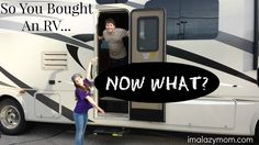 So You Bought An RV. Now What? A Master RV Checklist of what to do after you… Camper Life, Rv Campers, Rv Life, Happy Campers, Diy Camper, Do It Yourself Camper, Buying An Rv, Rv Trailers, Travel Trailers