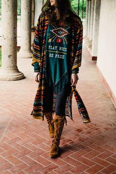 Double D Ranchwear Serape Stripe Kimono