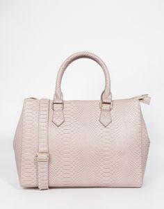ASOS Zip Top Tote Bag Purple - £25.00