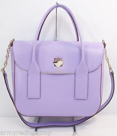 My recent color crush #lavendar purse. # Kate Spade New Bond Street new Kate spade summer star buckle candy violet (out)