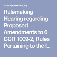 Rulemaking Hearing regarding Proposed Amendments to 6 CCR 1009-2, Rules Pertaining to the Infant Immunization Program, the Vaccines for Children Program and the Immunization of Students Attending School  (CDPHE, Lynn Trefren, 4/15/15)