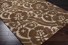 Natura Beige Plush High/Low Pile Rectangle Wool Rug - L 156 X W 108