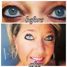 Proof! Younique 3d fiber lash mascara is amazing!