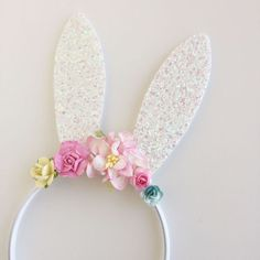 Venda venda de la Pascua orejas de conejo Pascua brillo Homemade Headbands, Bunny Ears Headband, Bunny Party, Easter Activities, Glitter Fabric, Kids Jewelry, How To Make Bows, Girls Accessories, Diy Crafts