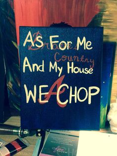 Atlanta braves need this. Tomahawk Chop, 3 Strikes, Georgia Girls, Braves Baseball, Tan Guys, Just A Game, Some Quotes, Atlanta Braves, Have Time