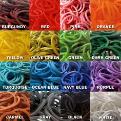 These bands are online! Just check out rainbow loom.com!