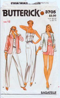 d10f05e80dff Vintage Jumpsuit and Reversible Jacket Pattern Womens Playsuit Short  Jumpsuit Womens Romper BUTTERIC