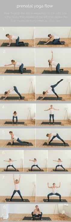 prenatal yoga flow workout pin   www.nourishmovelove.com