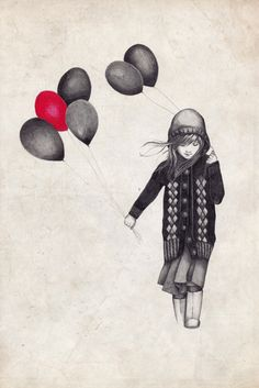 can't see where this girl with balloons art came from... :(
