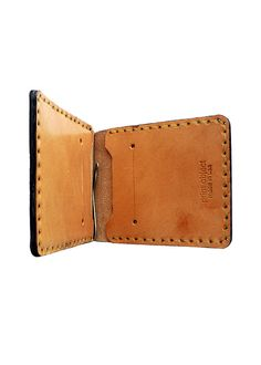 Handmade Money Clip Wallet - mens wallets, clip wallet by PrimObject Leather Craft $65 #moneyclip #wallet