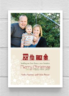 Merry Christmas / New Address announcement cards | Merry Merry ...