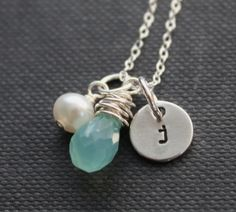 Etsy necklace. Love the stone