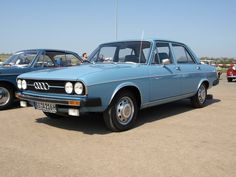Car No.18. Audi 100 LS 1974. In silver grey metallic. 5 cylinder engine and a great all round car. Towed the caravan no problem having bought a bigger one.