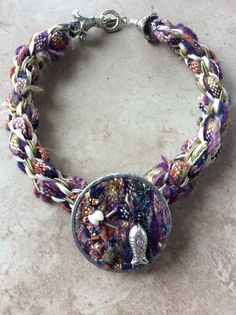 'I See No Trees!'  - Sue Stevenson Kumihimo neckpiece braided on a Marudai using selvedges cut from Shetland Tweed woven at the Global Yell Studio. Sue Stevenson 2016 Tweed, Braids, Bracelets, Beading, Shades, Patterns, Studio, Jewelry, Videos