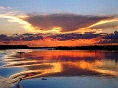 "Al Norte del Río Paraguay. ""El Pantanal"" URL: http://www.proyectoazul.com/wp-content/uploads/2013/01/rio_paraguay_atardecer_2.jpg"