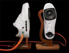 Sneaker speakers kick out the jams