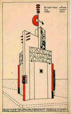 Le pavillon du tourisme de Mallet-Stevens Exposition internationale des arts décoratifs et industriels modernes de 1925.