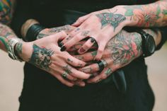 Heavily Tattooed Gothic Wedding at Home: Jesse and Chris