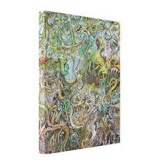 psychedelic fantasy LOWBROW POP SURREALISM art Canvas Print