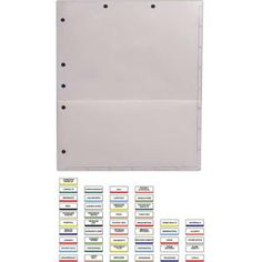 Physicians Orders - Chart divider pressure sensitive tabs. Blank.   1 for $0.059