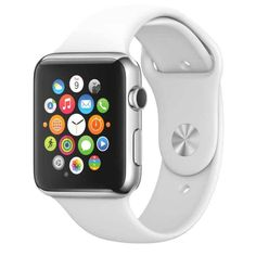 Silicone Band for Apple Watch Series 1/2 White iWatch Wrist Soft Sport Strap New #FanTEK
