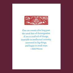 Happy in small ways  Edith Wharton quote  by letterarypress, $4.00