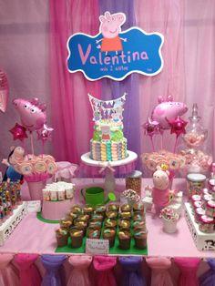 Decoración de Peppa Pig hecha por mi por el cumpleaños #2 de Valentina